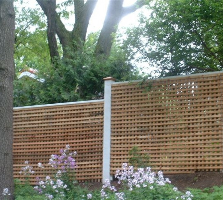 AFC Rochester- Wood Fencing, 1027 Lattice fence