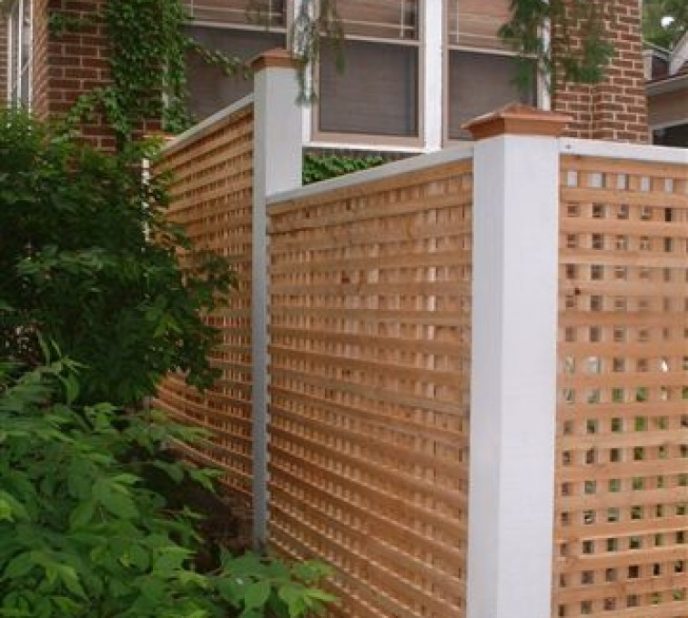 AFC Rochester - Wood Fencing, 1028 Lattice Fence