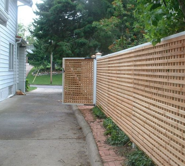 AFC Rochester - Wood Fencing, 1029 Lattice Fence