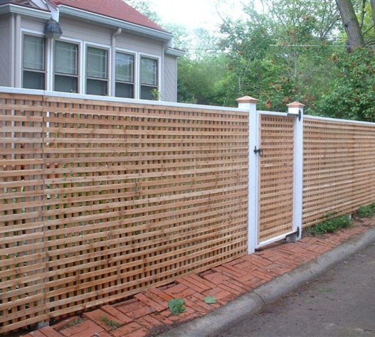 AFC Rochester - Wood Fencing, 1030 Lattice Fence