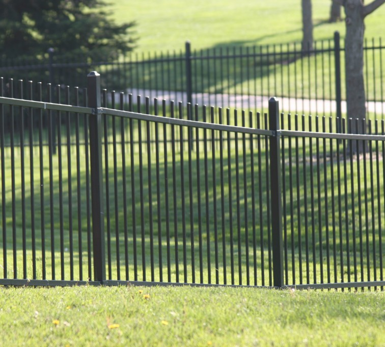 AFC Rochester - Ornamental Fencing, 1052 4' Genesis 2 rail black