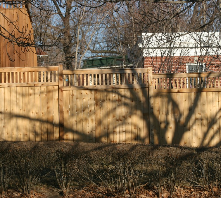 AFC Rochester - Wood Fencing, 1053 Custom Solid with Accent Top