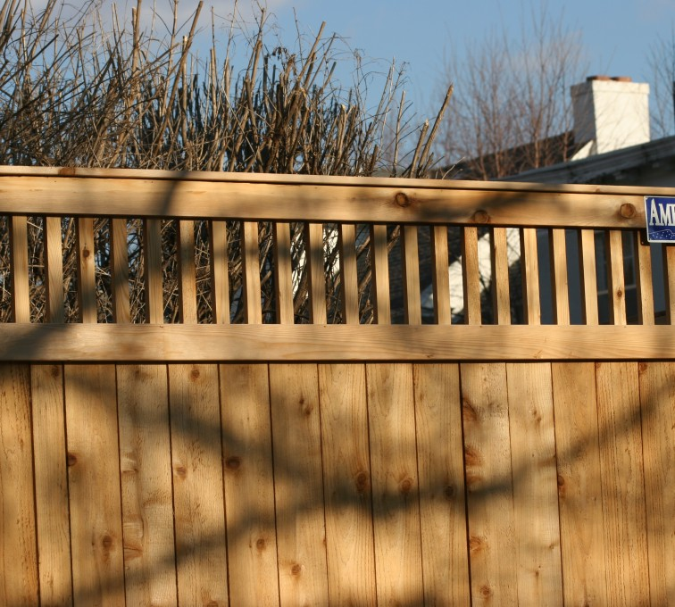 AFC Rochester - Wood Fencing, 1059 Custom Solid with Accent Top