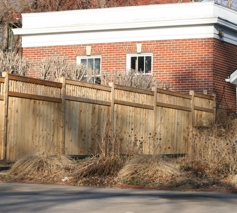 AFC Rochester - Wood Fencing, 1061 Custom Solid with Accent Top