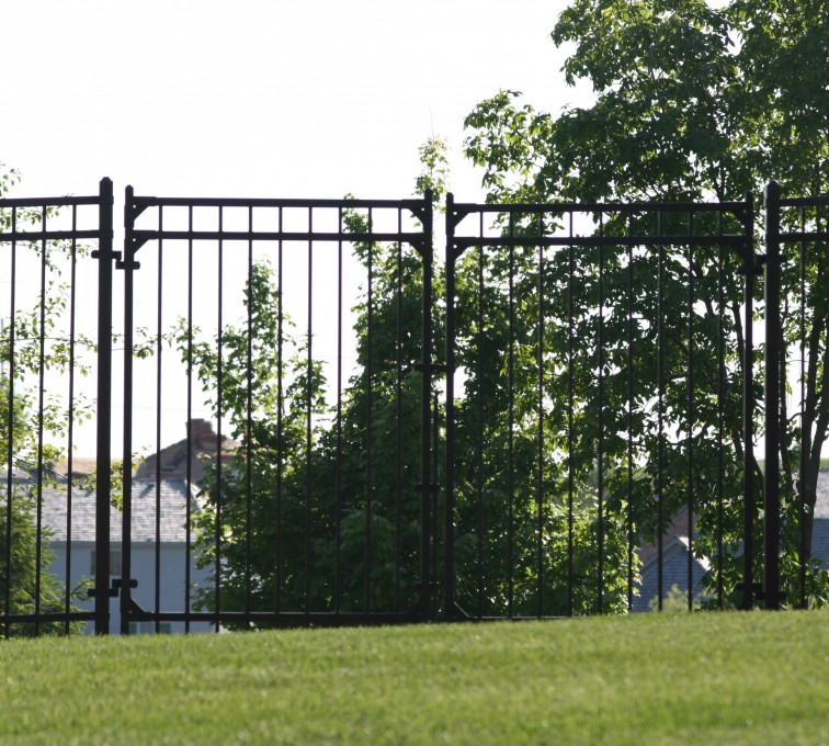 AFC Rochester - Ornamental Fencing, 1063 6' Majestic 3 rail double drive gate