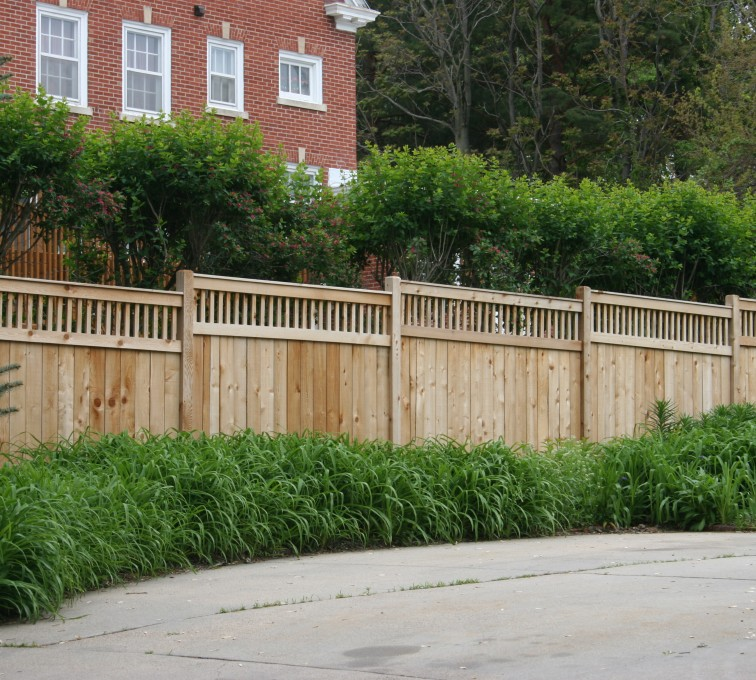 AFC Rochester - Wood Fencing, 1063 Custom Solid with Accent Top