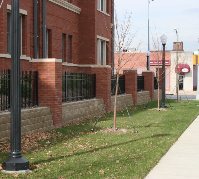 AFC Rochester - Ornamental Fencing, 1073 Classic Black Aegis II Creighton Student Housing