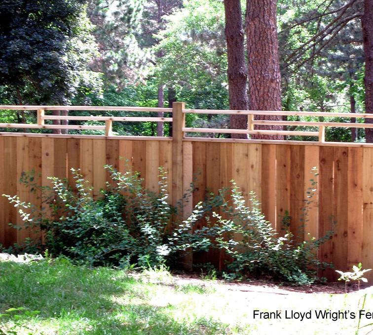 AFC Rochester - Wood Fencing, 1074 Frank Lloyd Wright Fence