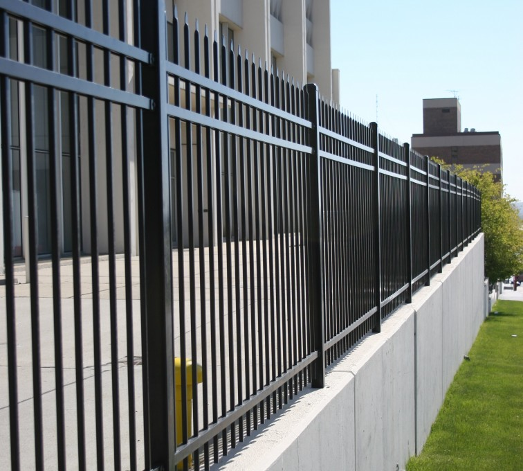 AFC Rochester - Ornamental Fencing,1075 Classic Black Aegis II Energy Services Fence 2