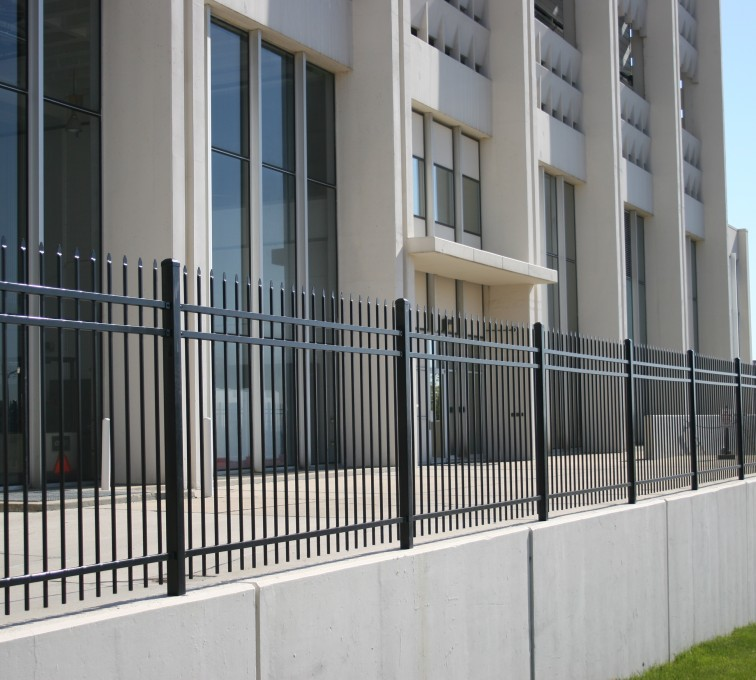 AFC Rochester - Ornamental Fencing,1076 Classic Black Aegis II Energy Services Fence 3