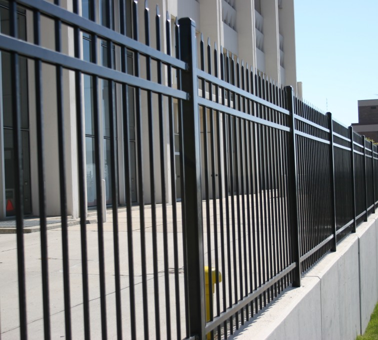AFC Rochester - Ornamental Fencing, 1078 Classic Black Energy Services Fence