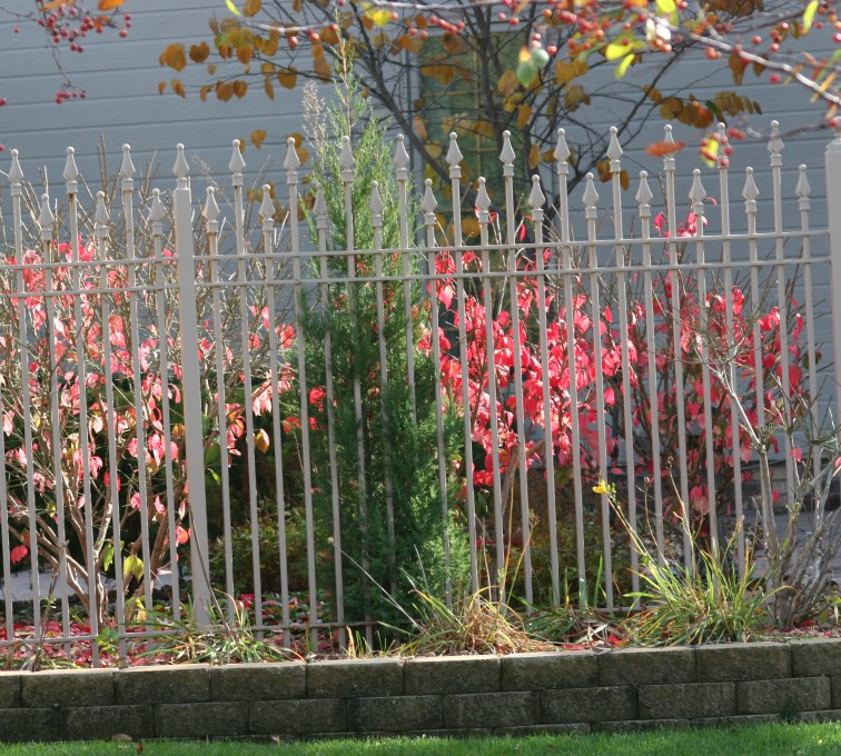 AFC Rochester - Custom Iron Gate Fencing, 1203 Alternating Picket White Ornamental Iron