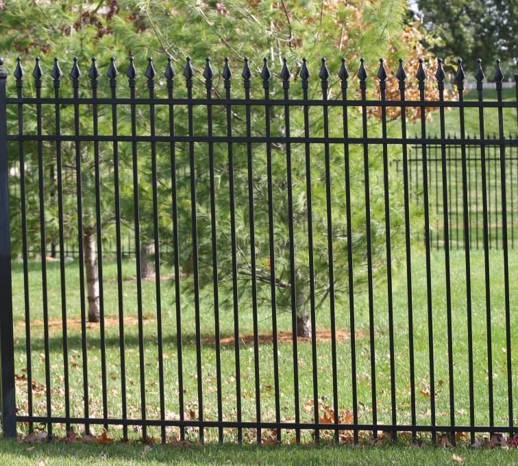 AFC Rochester - Custom Iron Gate Fencing, 1207 Classic Quad Flame Ornamental Iron