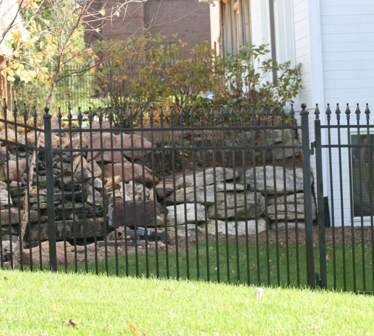 AFC Rochester - Custom Iron Gate Fencing, 1208 Classic Quad Flare Ornamental Iron