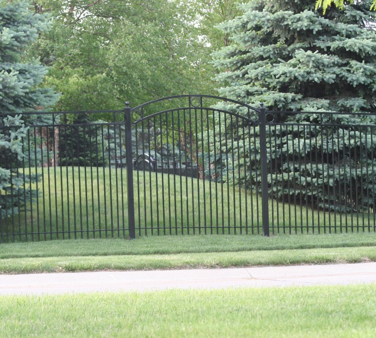 AFC Rochester - Custom Iron Gate Fencing, 1211 Overscallop panel with rings