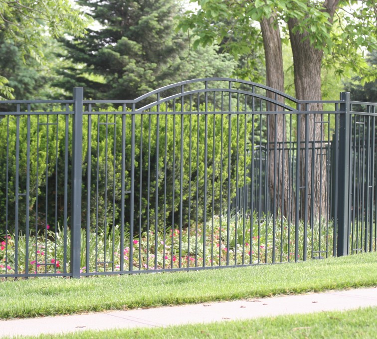 AFC Rochester - Custom Iron Gate Fencing, 1215 Overscallop panel