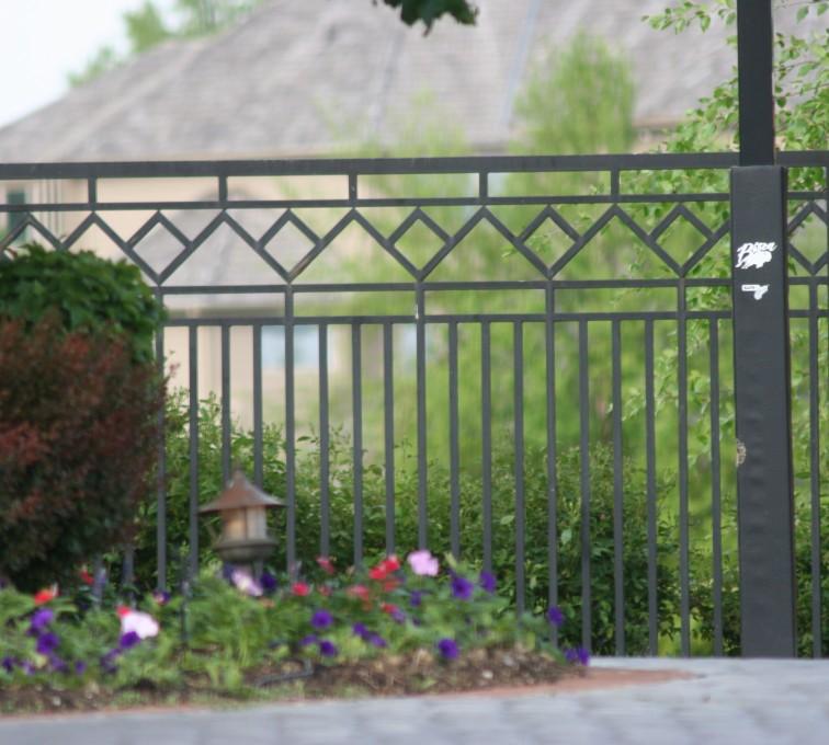 AFC Rochester - Custom Iron Gate Fencing, 1218 Mulitple Diamond Accent