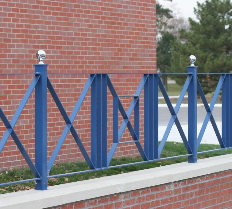 AFC Rochester - Custom Iron Gate Fencing, 1219 Flat Bar crossing pattern