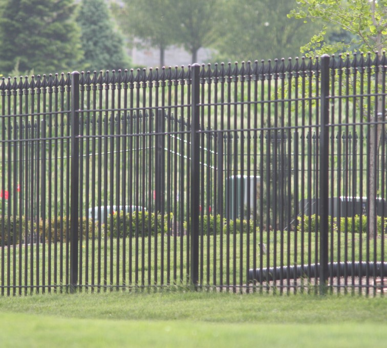 AFC Rochester - Custom Iron Gate Fencing, 1221 Quad flare straight picket