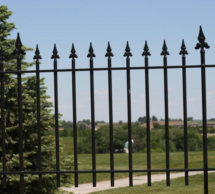 AFC Rochester - Custom Iron Gate Fencing, 1224 Flor de Lis Picket 3'