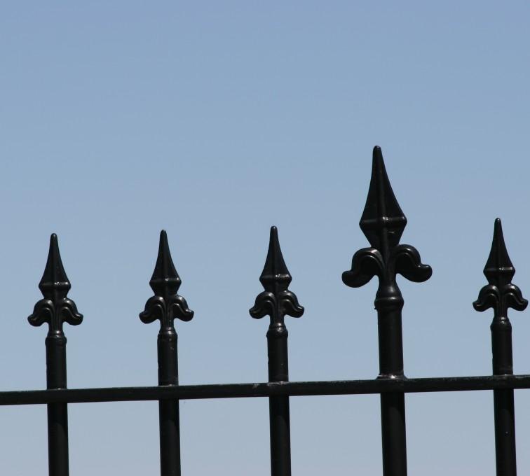 AFC Rochester - Custom Iron Gate Fencing, 1225 Flor de Lis close-up