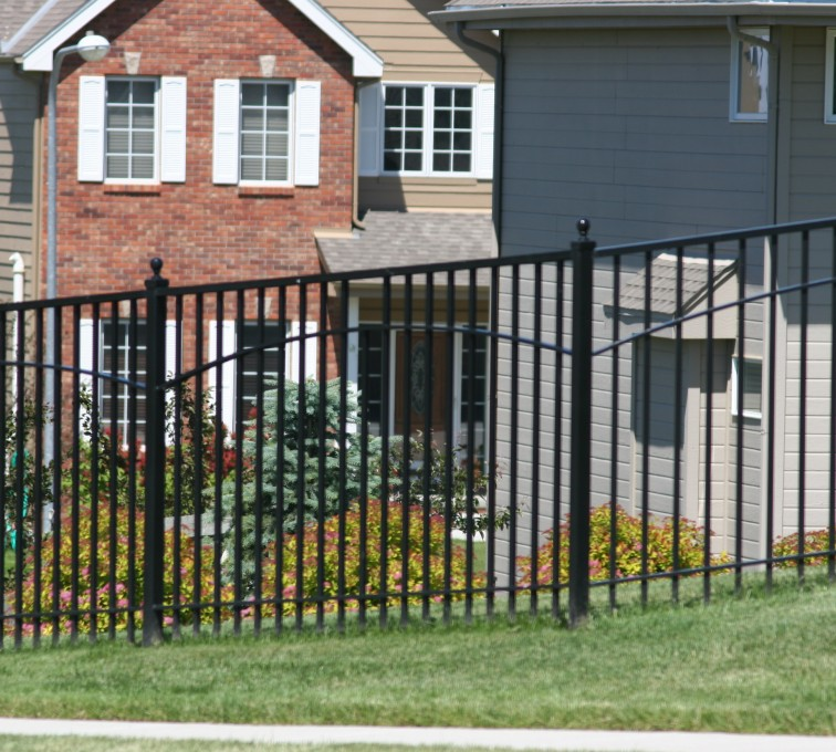 AFC Rochester - Custom Iron Gate Fencing, 1226 6' with underscallop in square panel