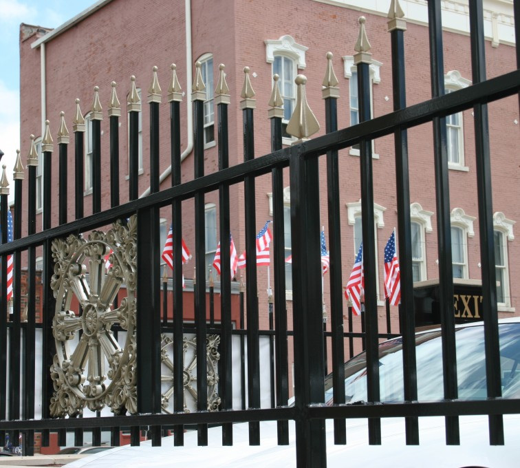AFC Rochester - Custom Iron Gate Fencing, l1228 Overscallop Ornamental with Quad Flare