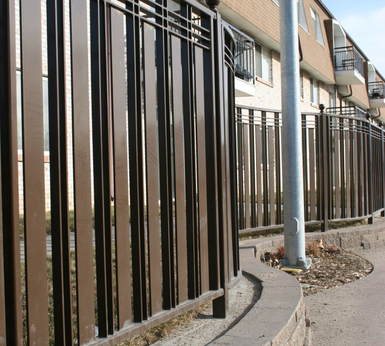 AFC Rochester - Custom Iron Gate Fencing, 1246 Checker Board Fence