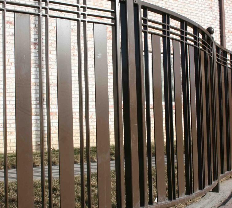 AFC Rochester - Custom Iron Gate Fencing, 1247 Checker Board Fence 1