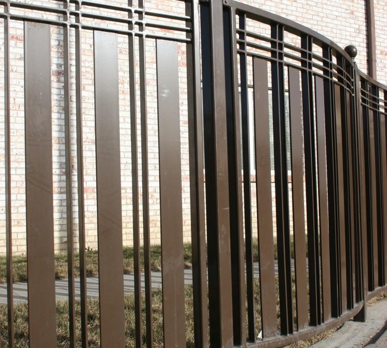 AFC Rochester - Custom Iron Gate Fencing, 1247 Checker Board Fence