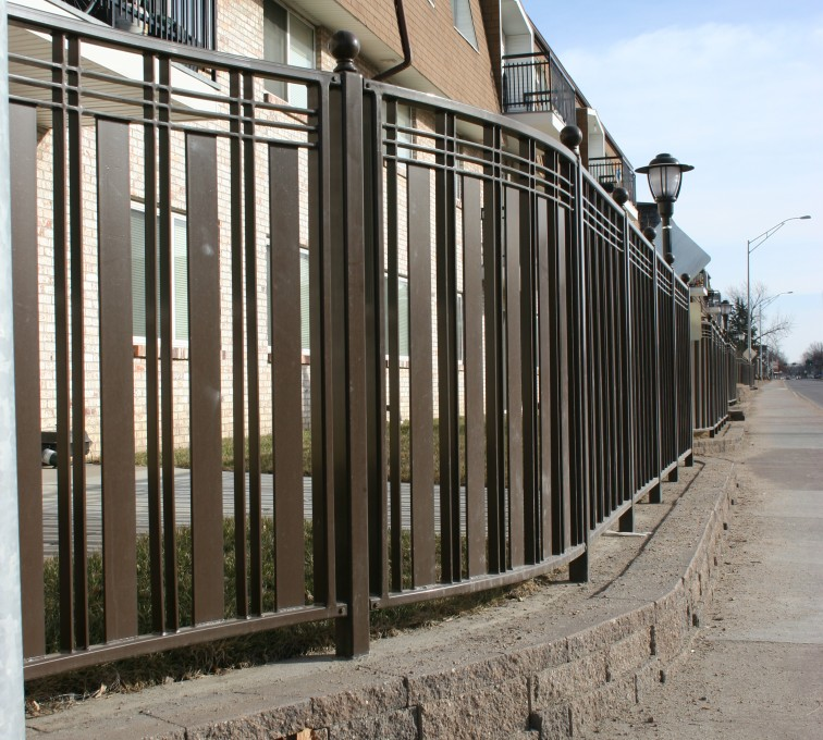 AFC Rochester - Custom Iron Gate Fencing, 1248 Checker Board Fence