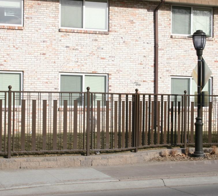 AFC Rochester - Custom Iron Gate Fencing, 1249 Checker Board Fence