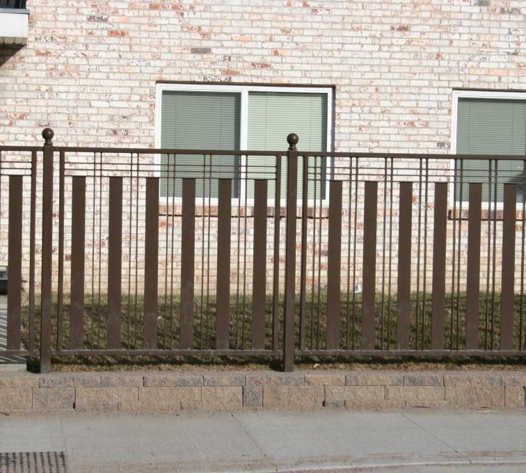 AFC Rochester - Custom Iron Gate Fencing, 1250 Checker Board Fence