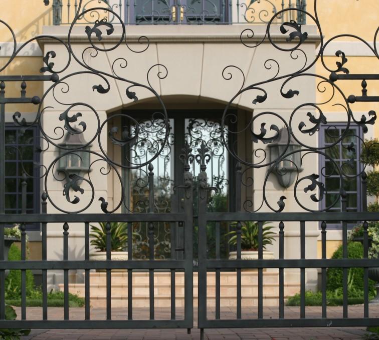 AFC Rochester - Custom Gates, 1305 Estate gate with heavy scroll work