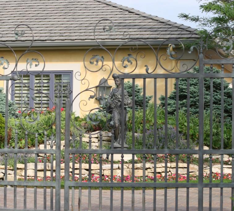 AFC Rochester - Custom Gates, 1306 Estate gate with heavy scroll work
