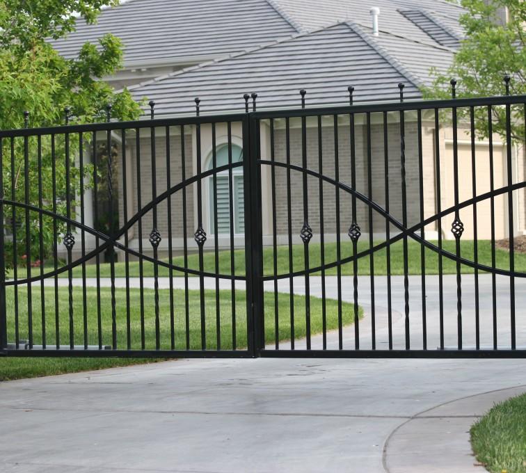 AFC Rochester - Custom Gates, 1307 Estate gate with Jesus fish