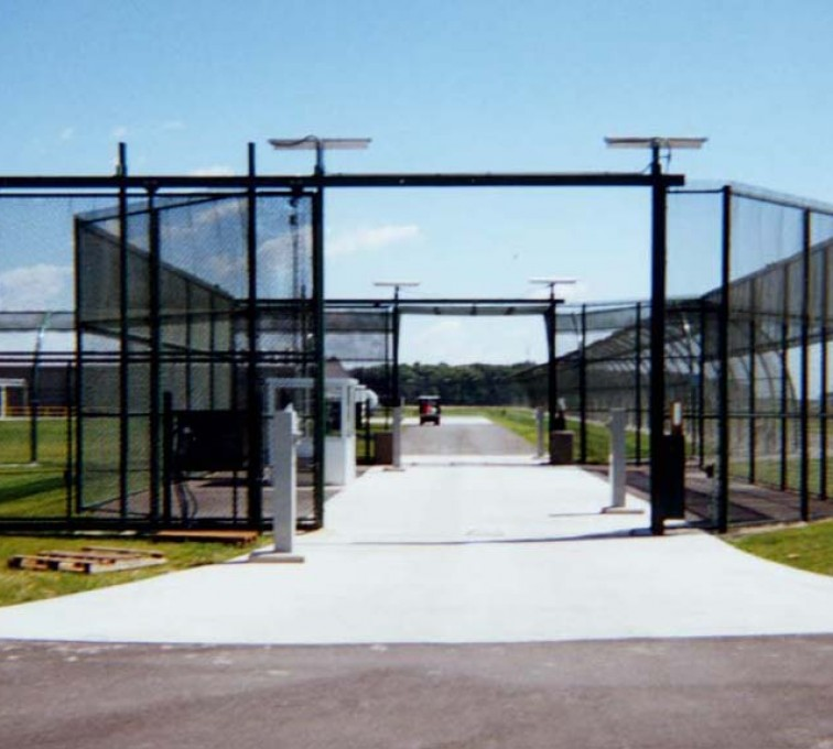 Rochester Minnesota Fence Company - Custom Gates, Estate Telephone Entry, 2110 TyMetal Plus Gate at Prison Sallyport