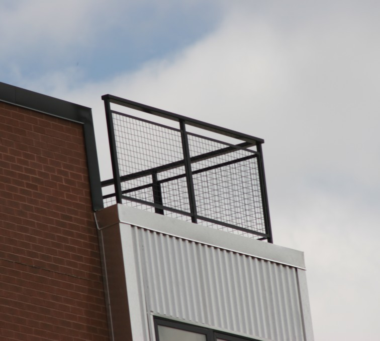 AFC Rochester - Custom Railing, 2201 Railing with mesh infill