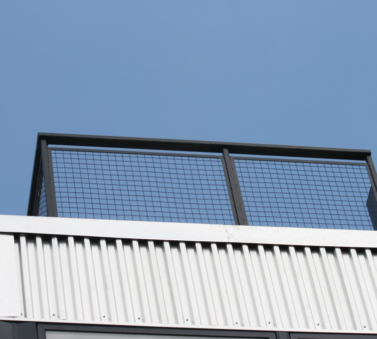 AFC Rochester - Custom Railing, 2206 Railing with mesh infill