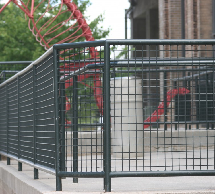 AFC Rochester - Custom Railing, 2207 Railing with heavy mesh infill