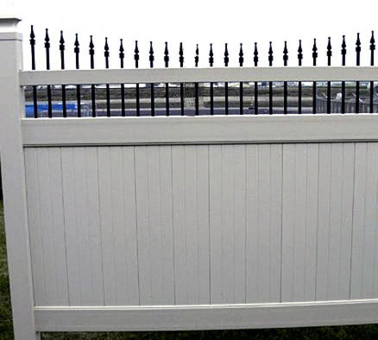 AFC Rochester - Vinyl Fencing, 568 Black & Tan Underscallop