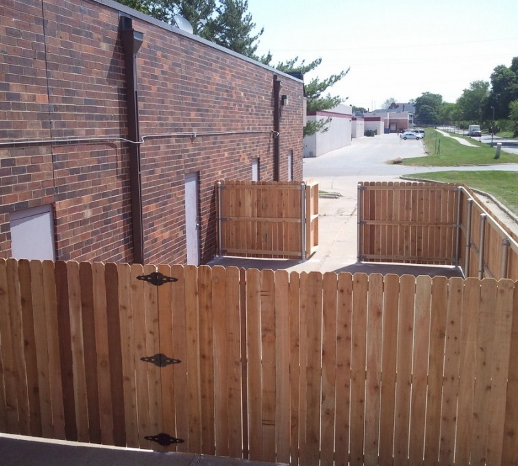 AFC Rochester - Wood Fencing, 6' Solid Wood with Steel Posts - AFC - IA