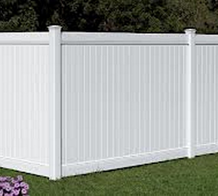 AFC Rochester - Vinyl Fencing, 6' White Polid Privacy PVC - AFC - IA
