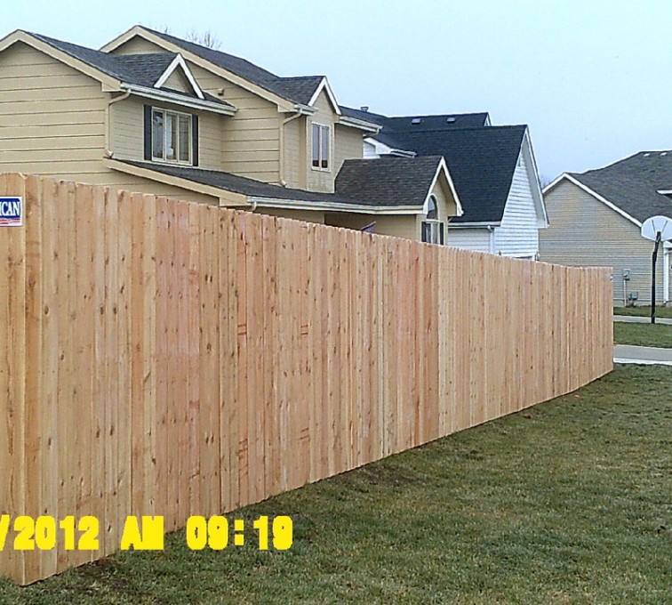 Rochester Minnesota Fence Company - Wood Fencing, 6' Wood Privacy - AFC - MN