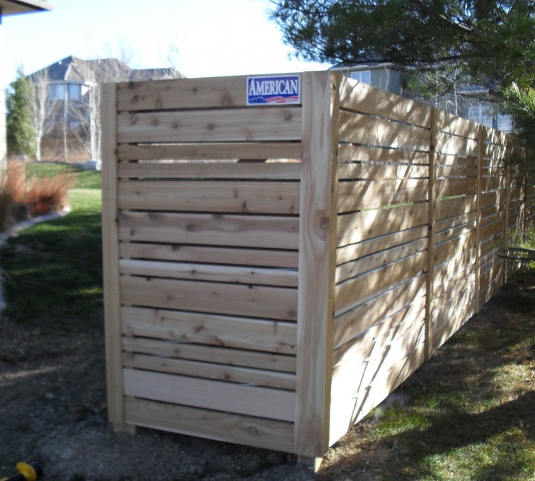 AFC Rochester - Wood Fencing, 6' Horizontal Wood White A