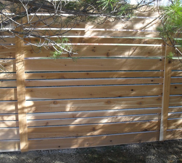 AFC Rochester - Wood Fencing, 6' Horizontal Wood White B