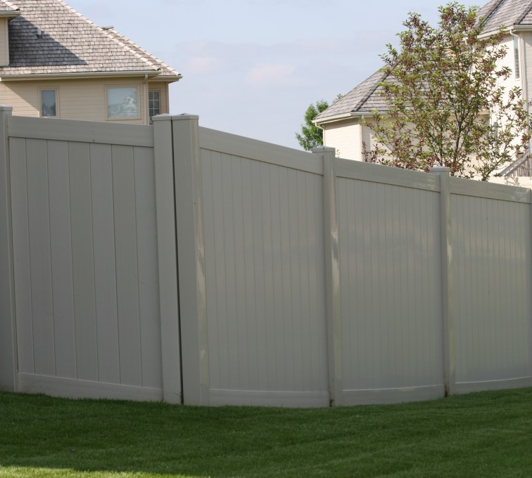 AFC Rochester - Vinyl Fencing, 6' solid privacy tan (620)