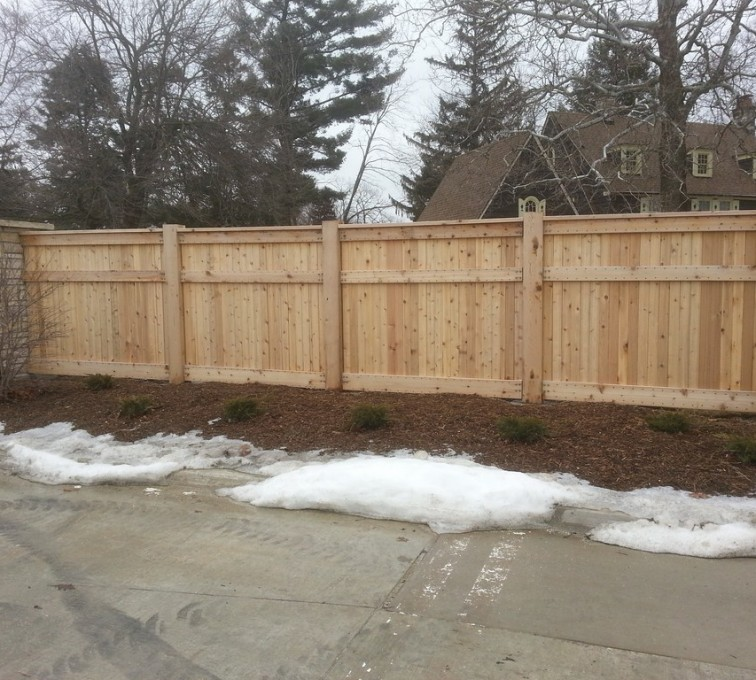 AFC Rochester - Wood Fencing, 6' Custom Wood With Stone Columns - AFC - IA