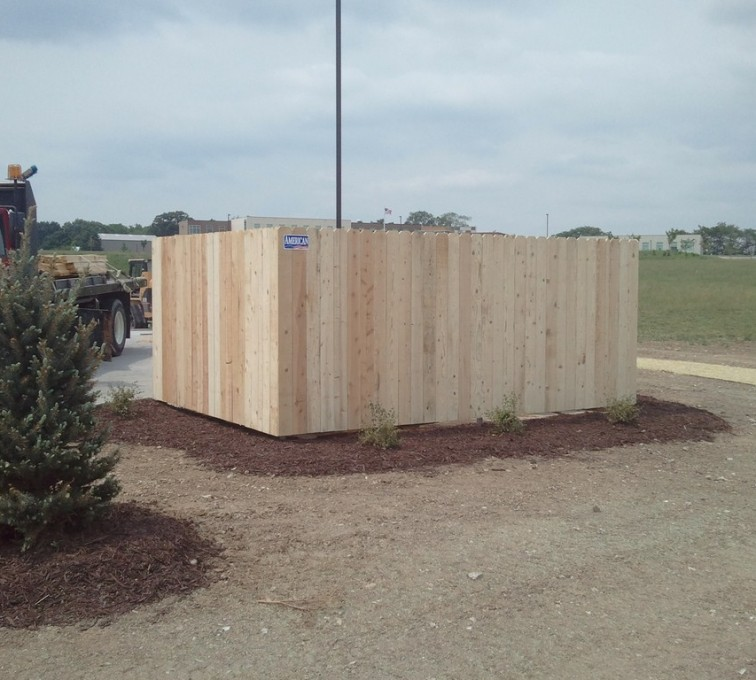 AFC Rochester - Wood Fencing, 6' Solid Dumpster Enclosure - AFC - IA
