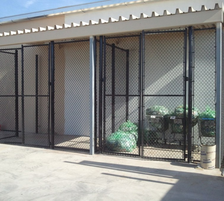 AFC Rochester - Chain Link Fencing, 8' Chain Link Recycling Enclosure - AFC - IA